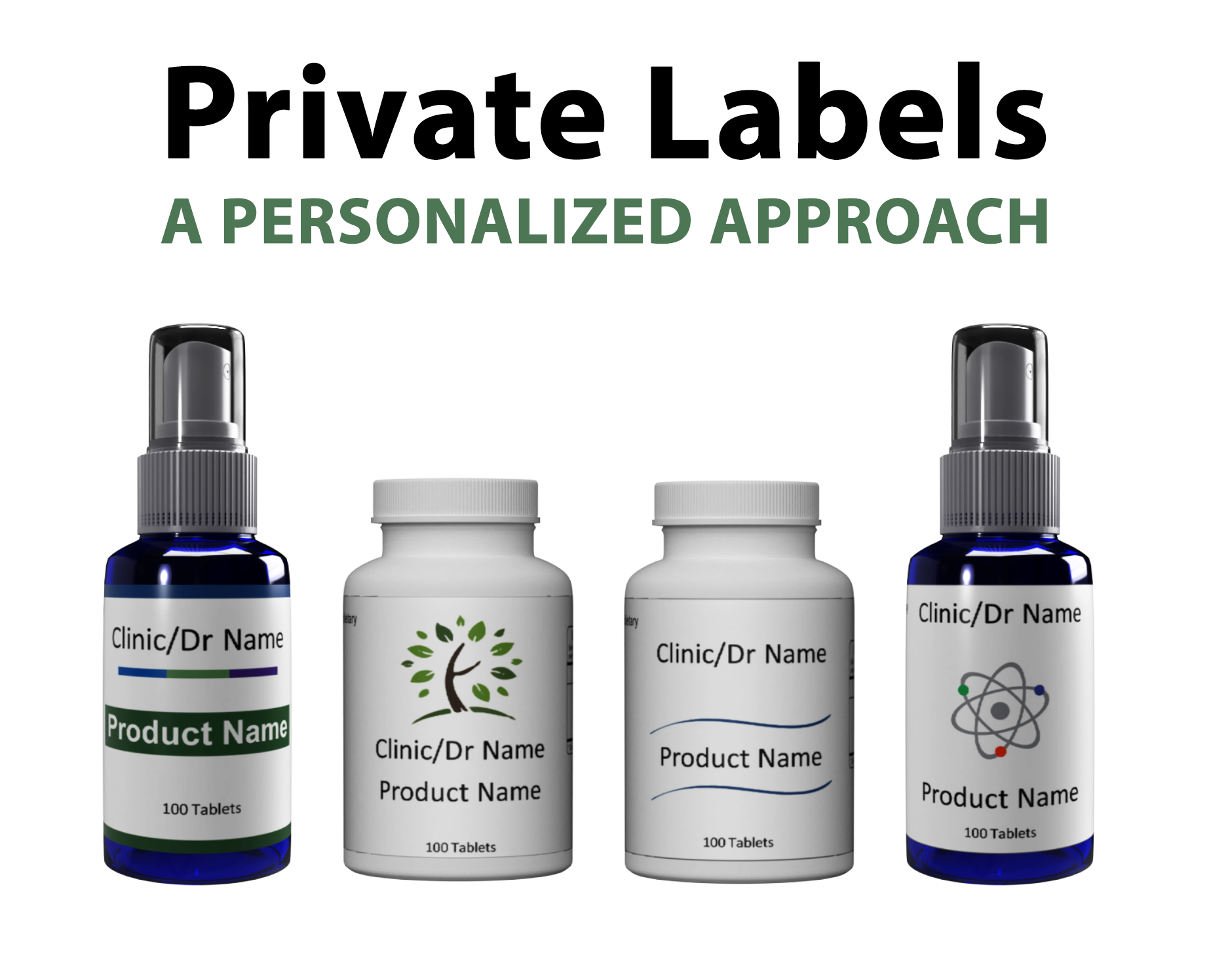 Lineup of Private Label Templates